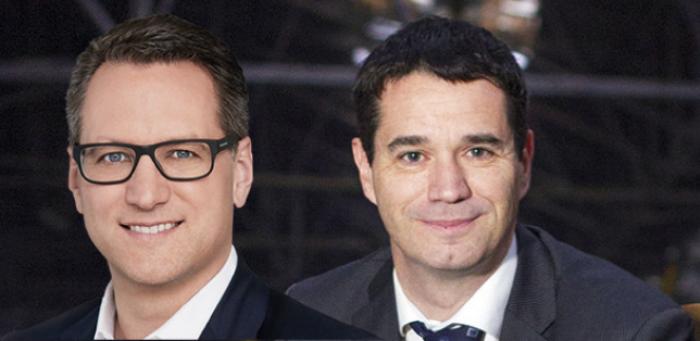 Dr. Sebastian Grabmaier (JDC, links) und Oliver Pradetto (blau direkt)